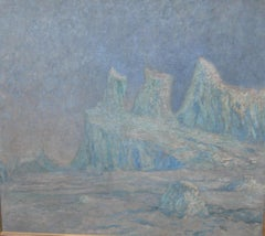 'Colossal Berg, Greenland' Large Impressionist oil circa 1890's