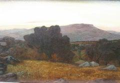 ' Sunset at Agregento, Sicily' oil circa 1890