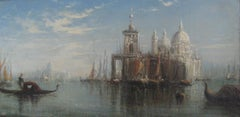 'View of Venice, Santa Maria della Salute'  oil on canvas circa 1900
