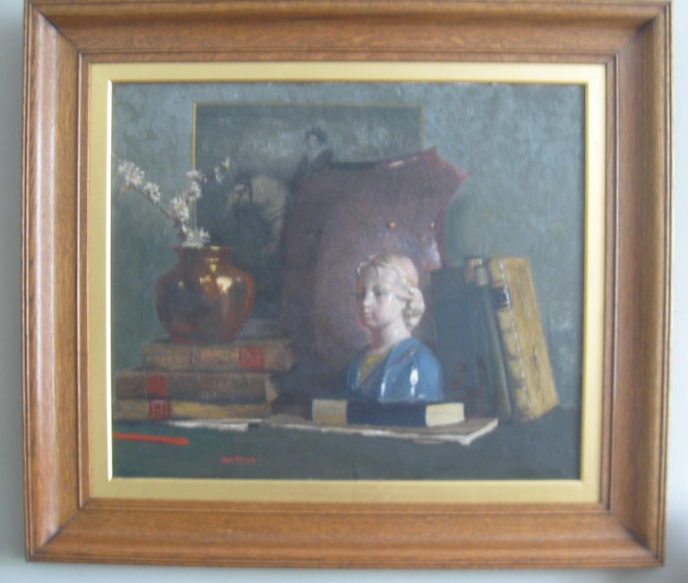 'Still Life' oil on canvas circa 1910 - Tonalist Painting by James Paterson
