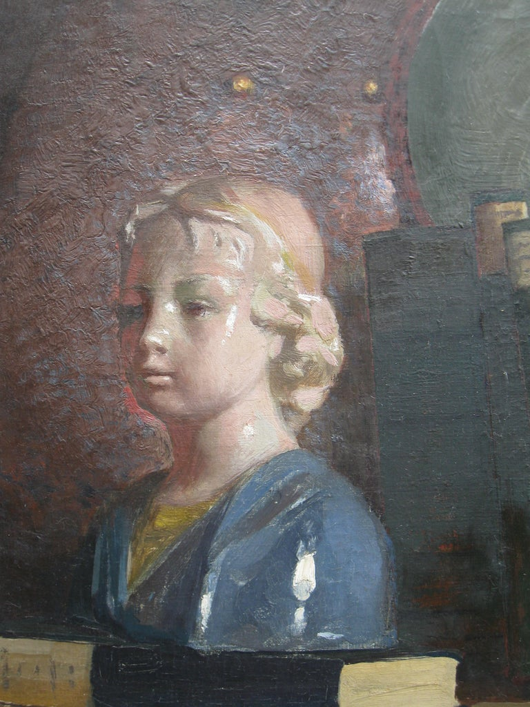 'Still Life' oil on canvas circa 1910 - Gray Still-Life Painting by James Paterson
