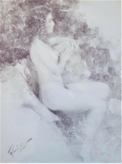 Silver Nude Drawings and Watercolors