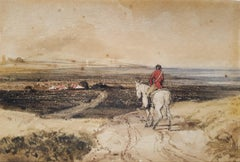 Horseman Overlooking Village