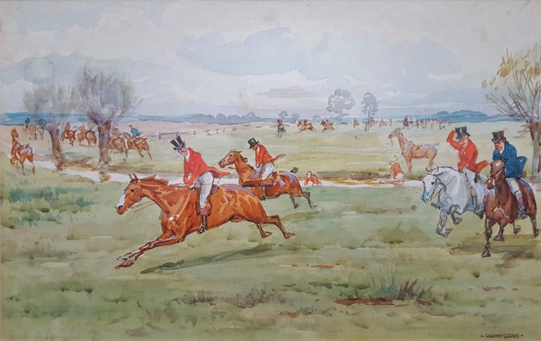 George Goodwin Kilburne Animal Art - Fox Hunting, On the Scent