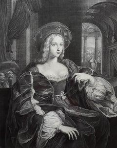 Portrait de Jeanne d'Arragon Reine de Sicile