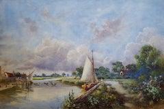 Canal in Norfolk Broads