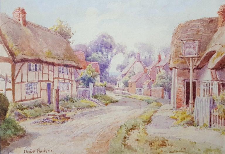 Maud Hollyer Landscape Art - Cotswold Village, England