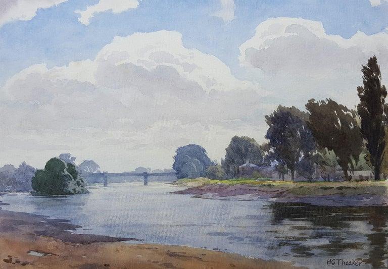 Harry George Theaker Landscape Art - Thames River Landscape