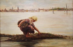 At the Ebb of the Tide (The Cockle Picker, Venice)