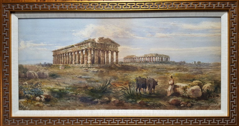 The First and Second Temple of Hera, Paestum - Art by Giovanni Giordano Lanza