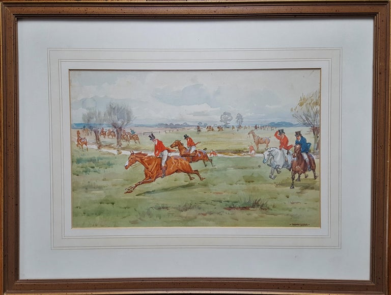 Fox Hunting, On the Scent - Art by George Goodwin Kilburne