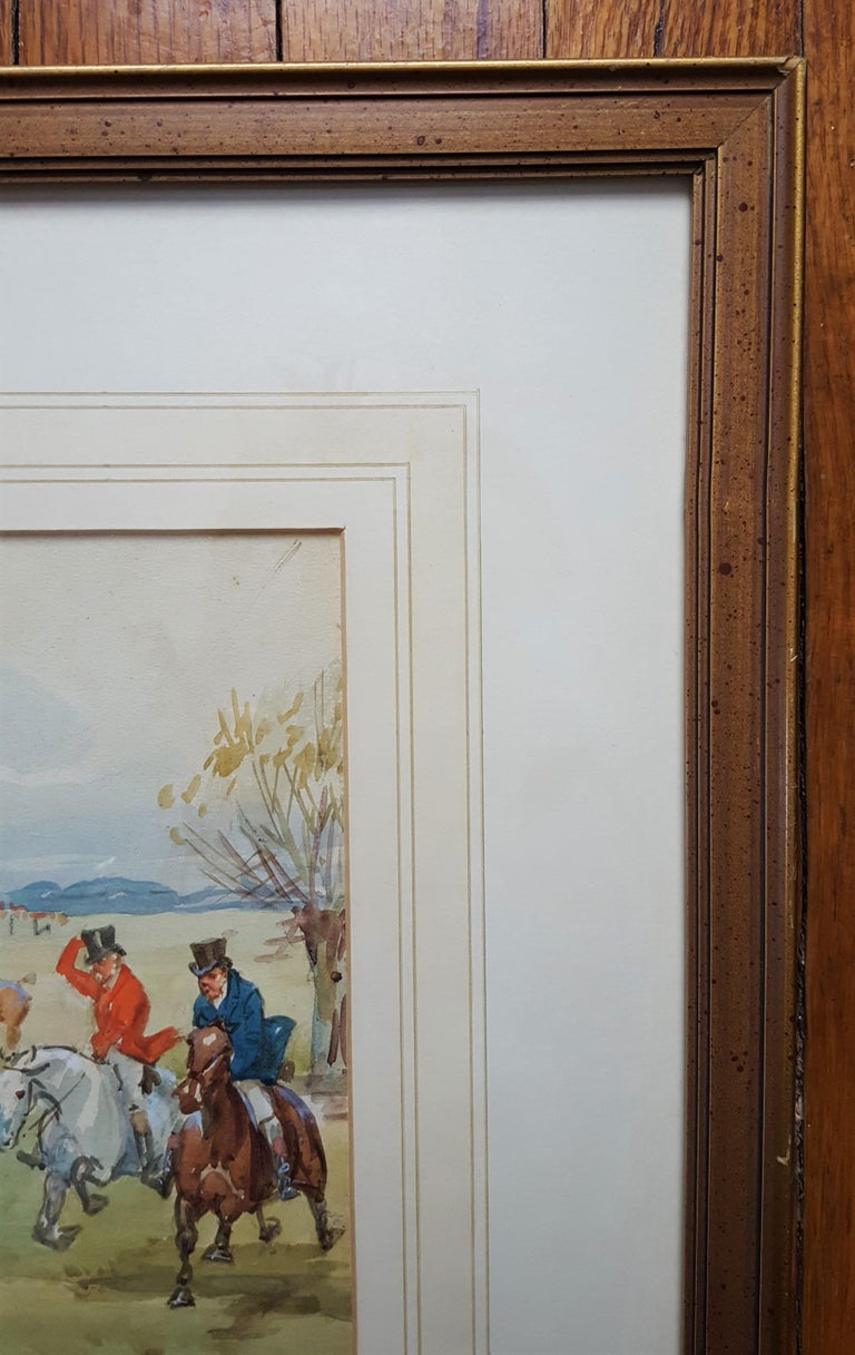 An original signed watercolor on paper by English artist George Goodwin Kilburne II (1863-1938) titled