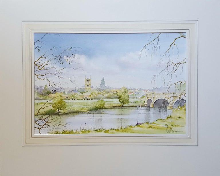 Pershore, Worcestershire - Art by Ken Burton