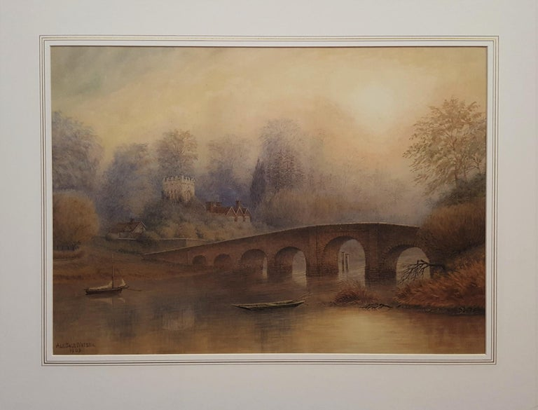 Bridge at Sonning on Thames - Art by Alfred Sale Watson