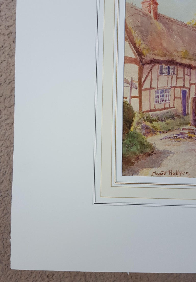 Cotswold Village, England - Victorian Art by Maud Hollyer