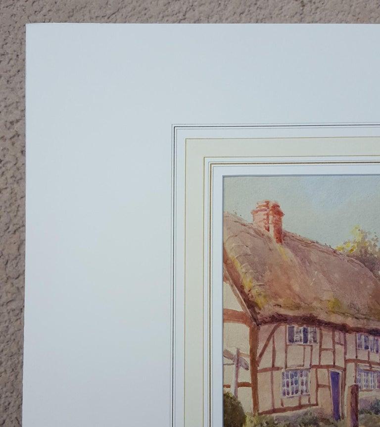 Cotswold Village, England - Gray Landscape Art by Maud Hollyer