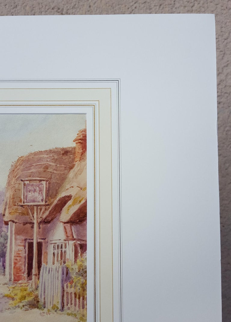 An original signed watercolor by English artist Maud Hollyer (1867-1910) titled
