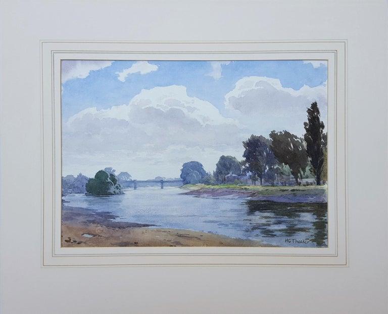 Thames River Landscape - Art by Harry George Theaker