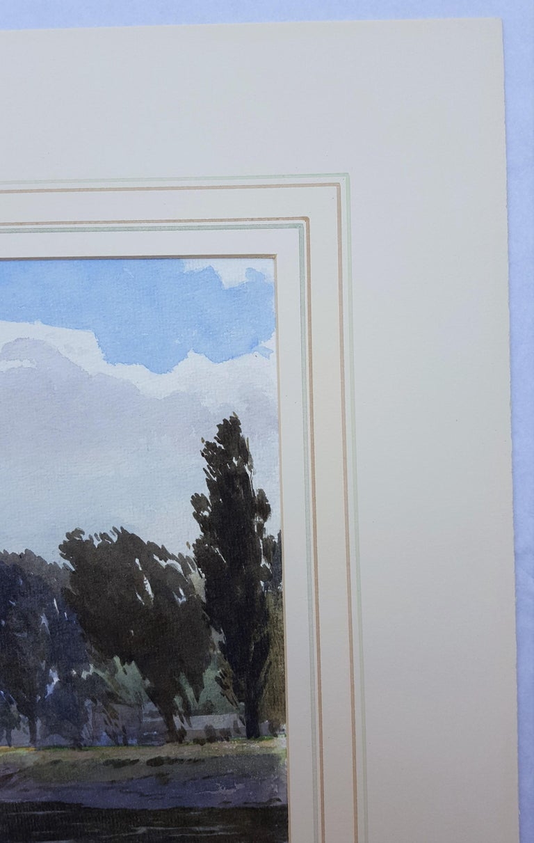 An original signed watercolor by English artist Harry George Theaker (1873-1954) titled