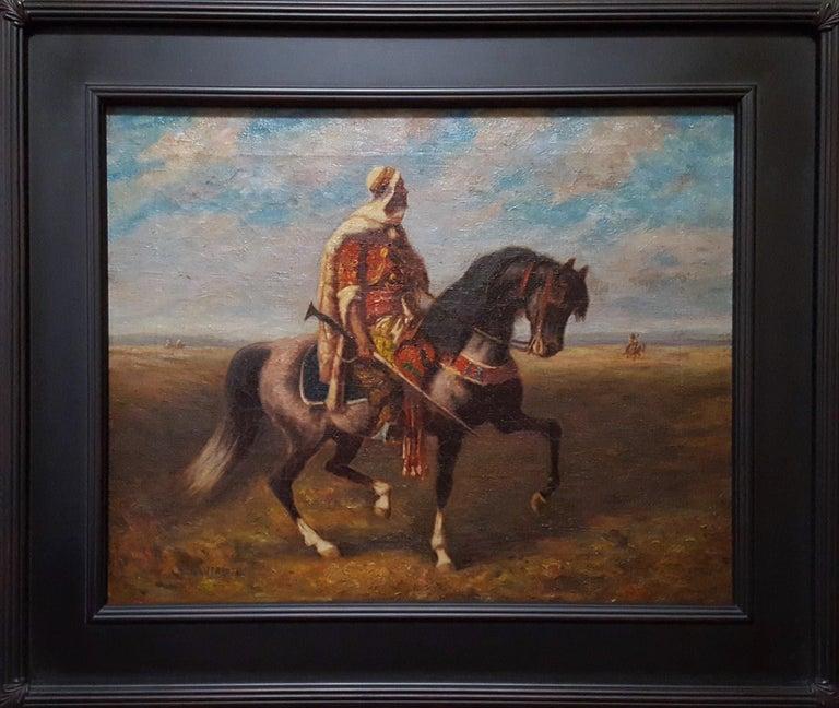 An Arab Horseman - Painting by (after) Adolf Schreyer