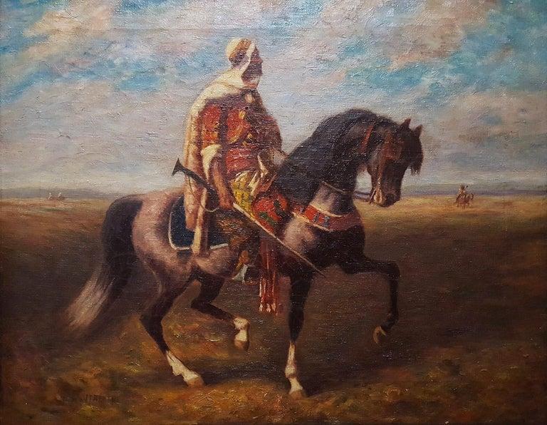 (after) Adolf Schreyer Figurative Painting - An Arab Horseman