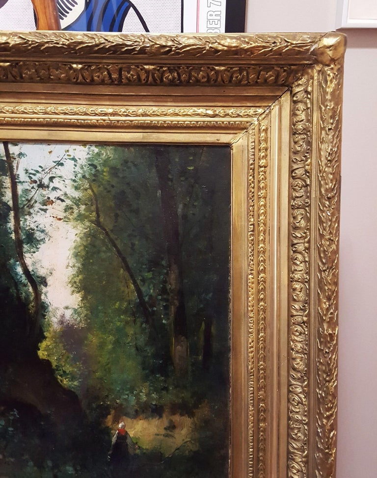 An original signed oil painting on canvas by an unknown artist, likely French (Active: 19th Century) titled