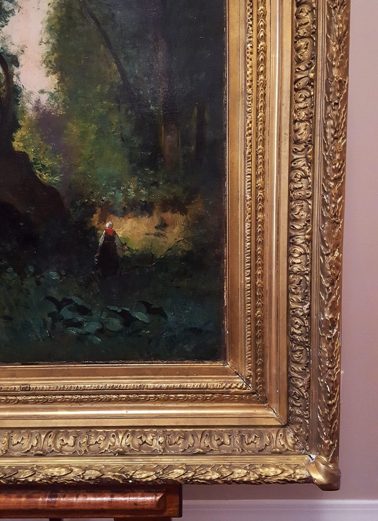 Woman in Forest Landscape For Sale 1