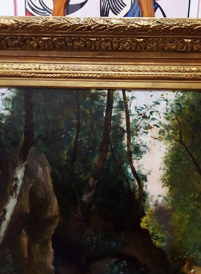 Woman in Forest Landscape For Sale 2