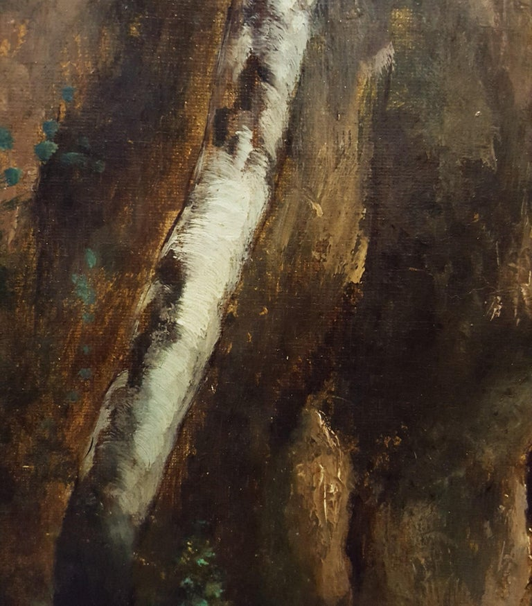 Woman in Forest Landscape For Sale 5