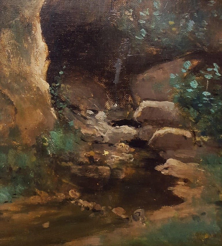 Woman in Forest Landscape For Sale 6