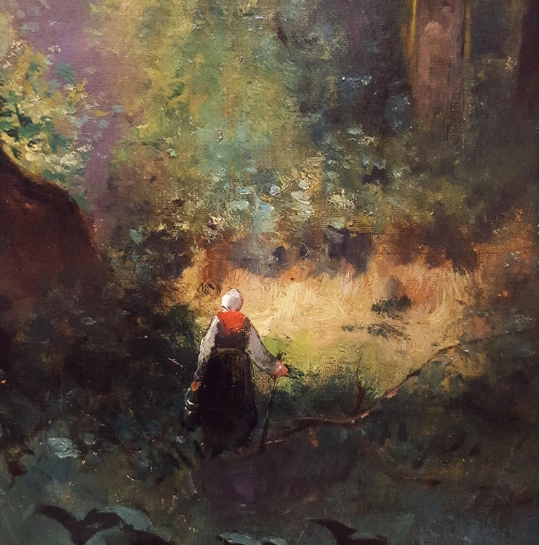 Woman in Forest Landscape For Sale 7