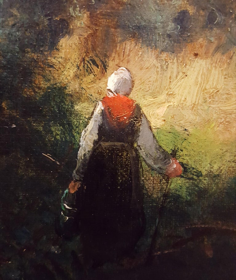 Woman in Forest Landscape For Sale 8