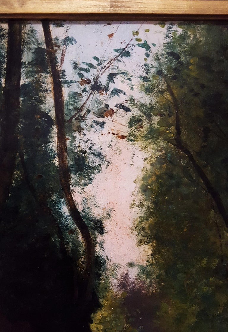 Woman in Forest Landscape For Sale 9