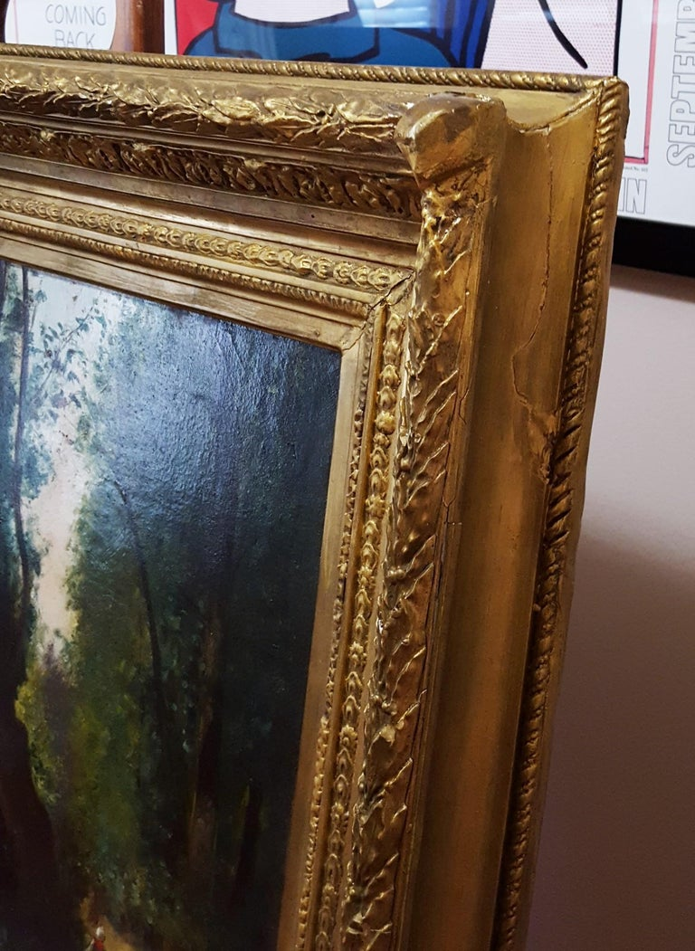 Woman in Forest Landscape For Sale 11