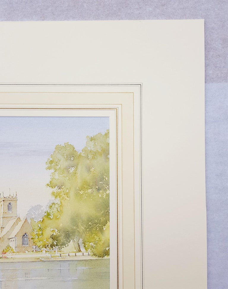 An original signed watercolor on heavy wove paper by English artist Ken Burton (1946-) titled