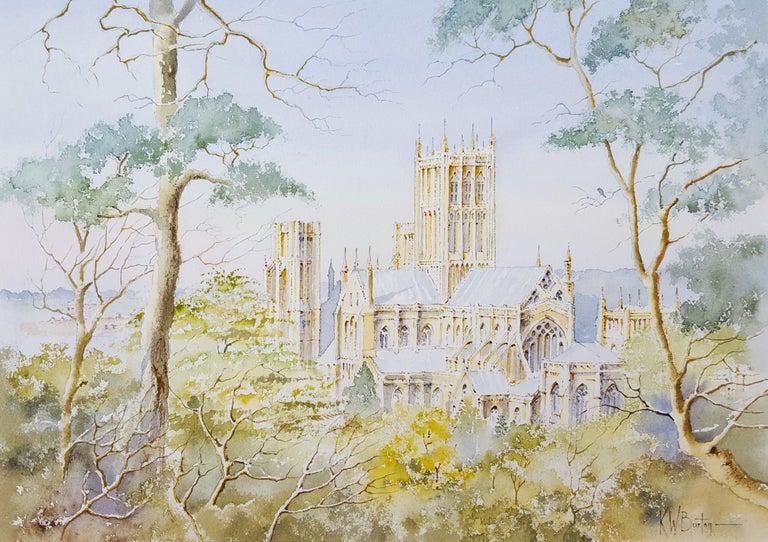 Ken Burton Landscape Art - Wells Cathedral, Wells, UK