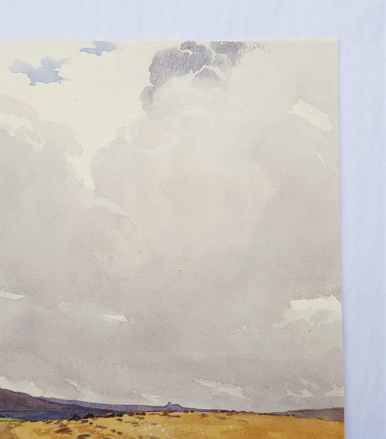 Moors, Yorkshire, UK - Gray Landscape Art by Harry George Theaker