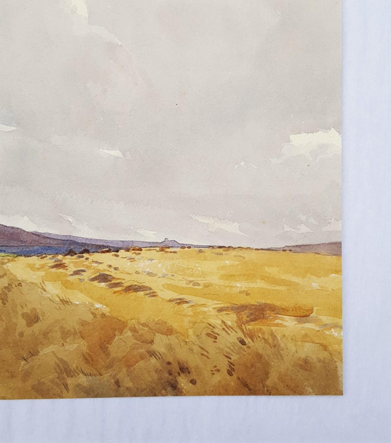 An original watercolor on watercolor paper by English artist Harry George Theaker (1873-1954) titled