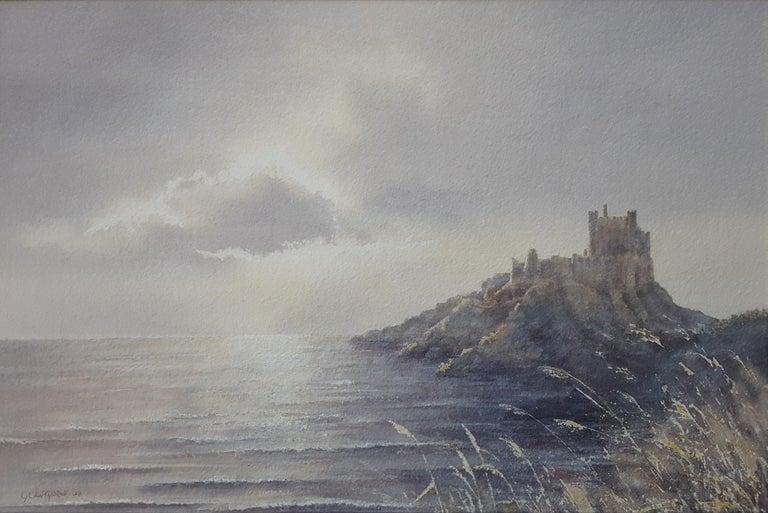 Gillie Cawthorne Landscape Art - Bamburgh Castle Sunrise, Northumberland