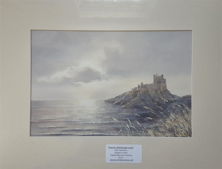 Bamburgh Castle Sunrise, Northumberland - Art by Gillie Cawthorne
