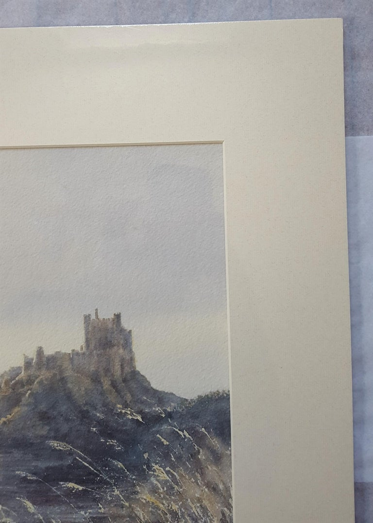 An original signed watercolor by English artist Gillie Cawthorne (1963-) titled