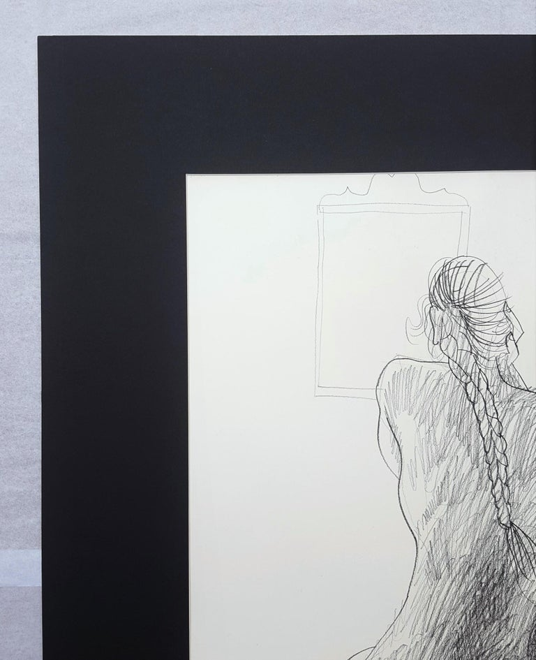 Seated Nude with Mirror For Sale 1