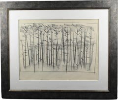The Forest Charcoal Drawing by Etienne Poirier