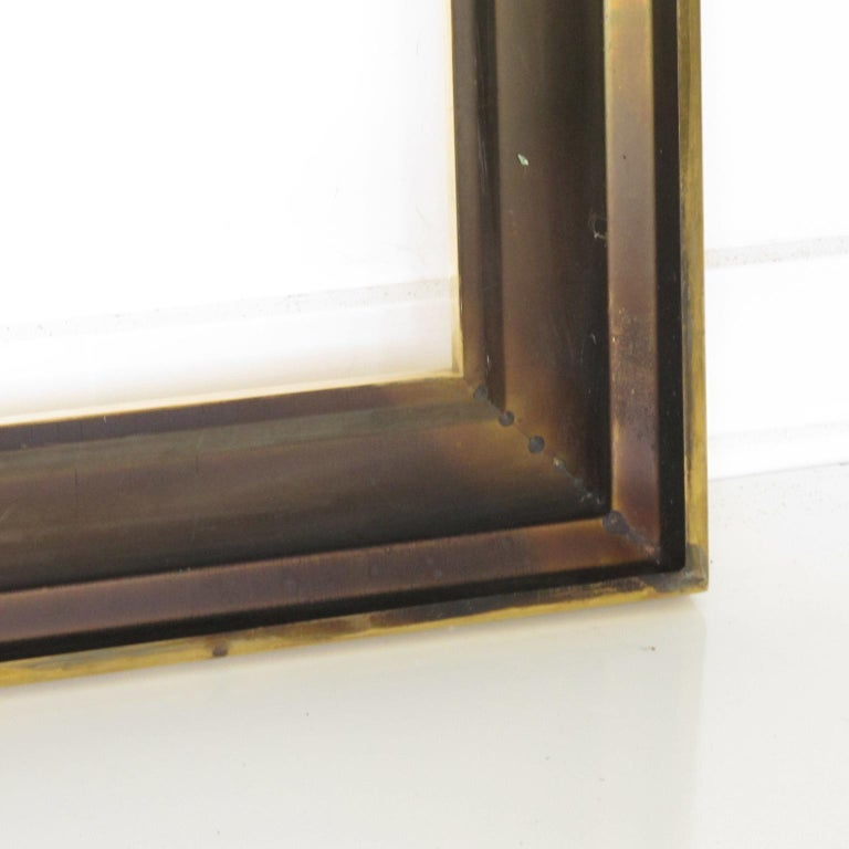 French 1940s Modernist Polished Brass Frame for Painting Drawing or Mirror For Sale 5
