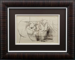 André Lhote Cubist Composition Pen Drawing circa 1910