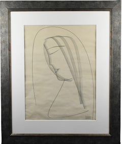 The Nun Charcoal Drawing by Etienne Poirier