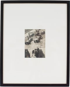 1936 Car Race in Monza Italy - Silver Gelatin Black & White Photograph Framed