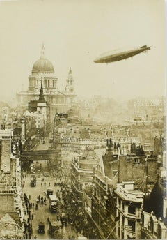 London, Airship R101 - New York Times Silver Gelatin Black & White Photograph