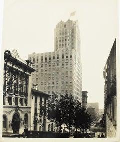 Sir Francis Drake Hotel San Francisco 1930  -  B & W Photograph by Ralph Young