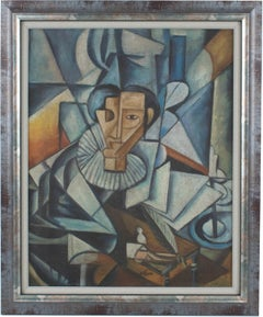 The Lawyer Cubist Oil on Canvas Painting by Ivan Kliun